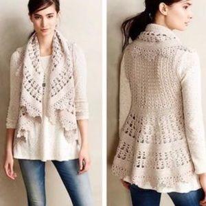 Anthro Crochet Vest